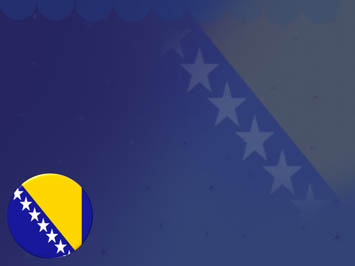 Bosnia and Herzegovina Flag PowerPoint Template