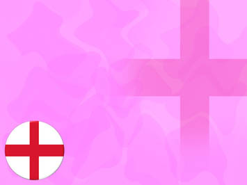 England Flag PowerPoint Template