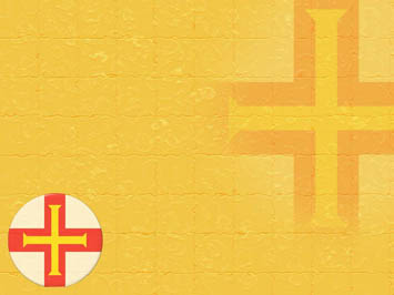 Guernsey Flag PowerPoint Template