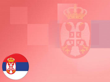 Serbia Flag PowerPoint Templates