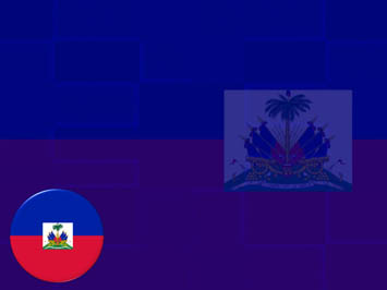 Haiti Flag PowerPoint Template