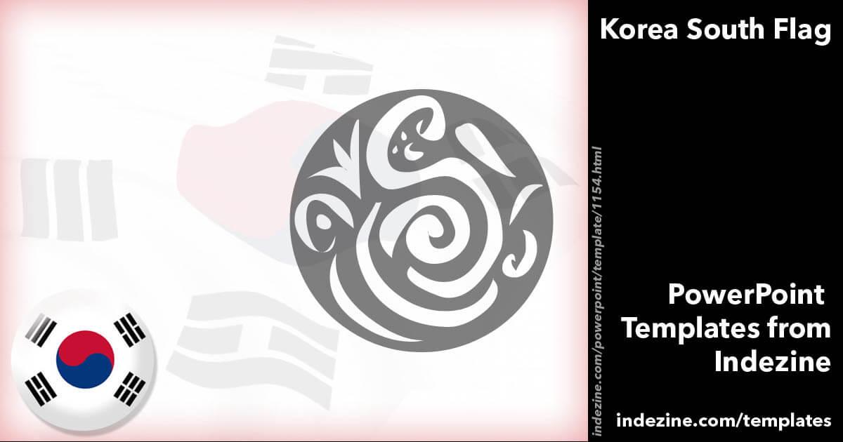 Korea south flag 04 powerpoint templates toneelgroepblik Gallery
