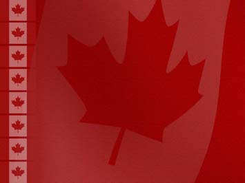 Canada Flag PowerPoint Templates