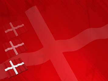 Denmark Flag PowerPoint Templates