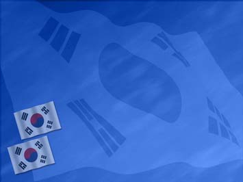Korea, South Flag PowerPoint Templates