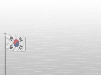 Korea south flag 02 powerpoint templates korea south flag powerpoint templates toneelgroepblik Images