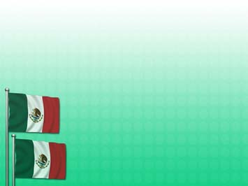mexican themed powerpoint template - mexico flag 02 powerpoint templates