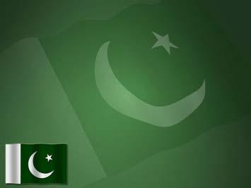 Pakistan Flag 01 Powerpoint Templates
