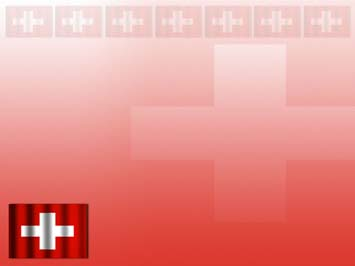 Switzerland Flag PowerPoint Template