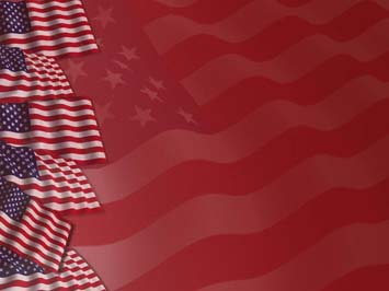 American Flag Powerpoint Template  blueplaidnet