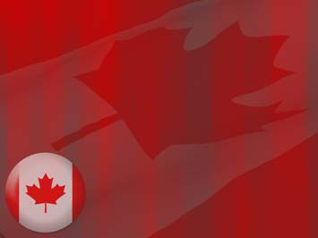 Canada Flag PowerPoint Template