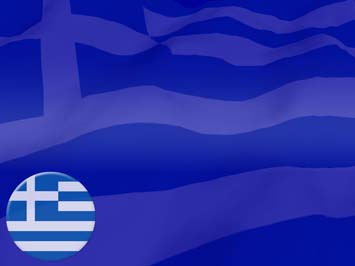 Greece Flag PowerPoint Templates