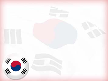 Korea South Flag PowerPoint Template