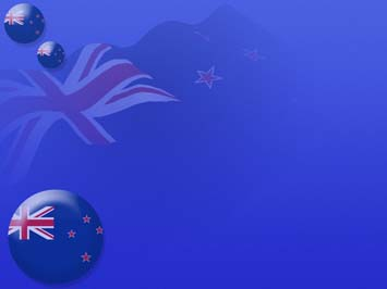 New Zealand Flag 06 Powerpoint Template