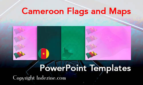 Cameroon Flags and Maps PowerPoint Templates