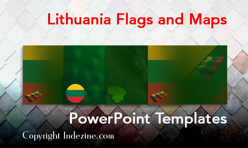 Lithuania Flags and Maps PowerPoint Templates