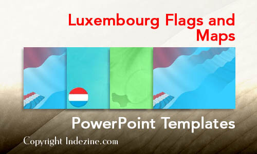 Luxembourg Flags and Maps PowerPoint Templates