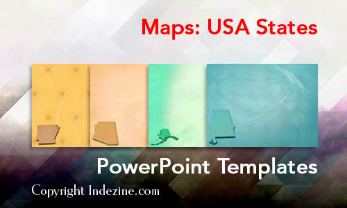 Maps: USA States PowerPoint Templates