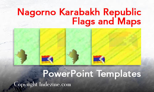 Nagorno Karabakh Republic Flags and Maps PowerPoint Templates