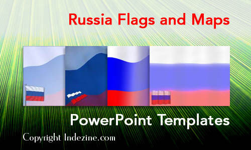 Russia Flags and Maps PowerPoint Templates