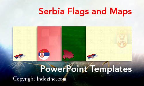 Serbia Flags and Maps PowerPoint Templates