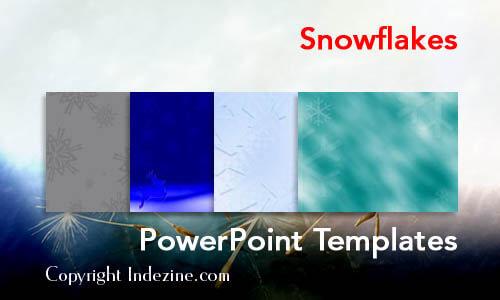 snowflakes powerpoint templates