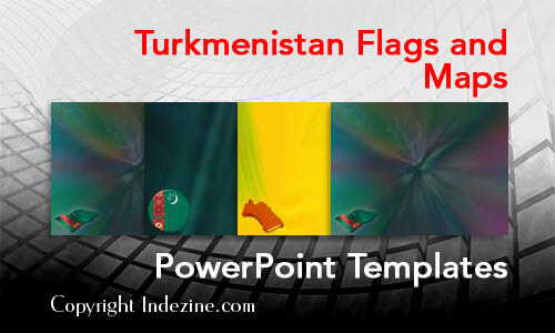Turkmenistan Flags and Maps PowerPoint Templates