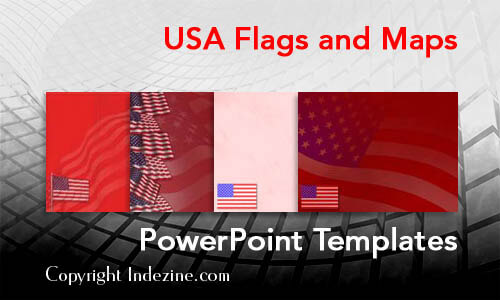 USA Flags and Maps PowerPoint Templates