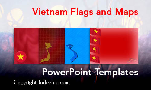 Vietnam Flags and Maps PowerPoint Templates