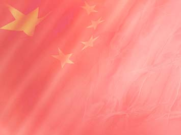 China Flag PowerPoint Template