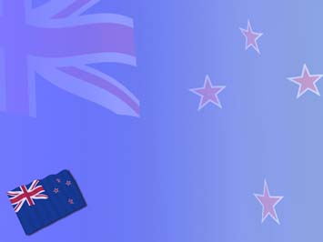New Zealand Flag 01 Powerpoint Template