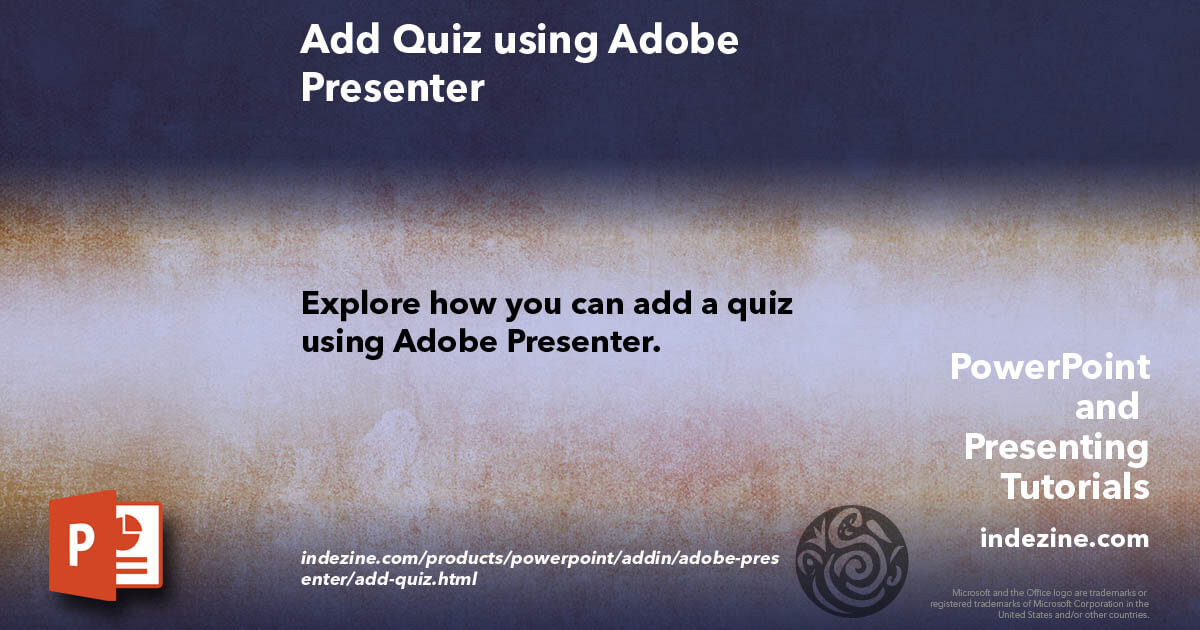 how to use adobe presenter in powerpoint