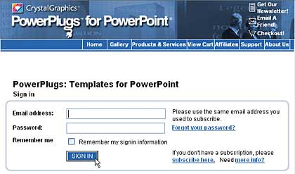 Sign for PowerPlugs: Templates