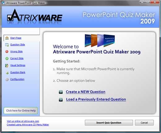 PowerPoint Quizmaker 2009