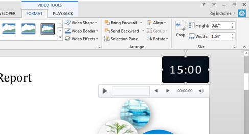 slides with countdown timers in powerpoint 2016 and 2013 for windows