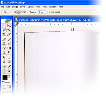 Outline the book pages with the Lasso Tool to select and delete for a transparent background