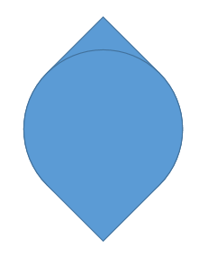 Teardrop shapes overlap each other
