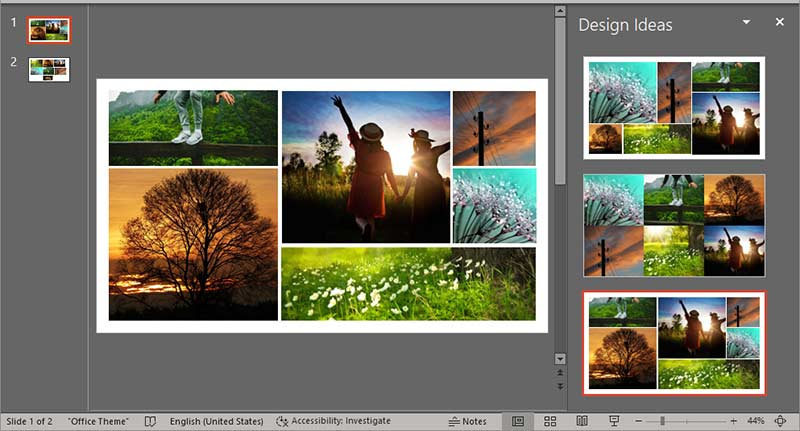 Working with Pictures in PowerPoint Designer in PowerPoint 365 for Windows
