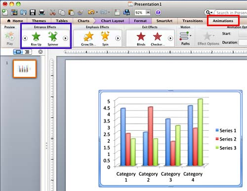 Animate charts in powerpoint 2011 for mac chart inserted on powerpoint slide toneelgroepblik