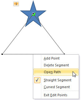 Line segment editing options