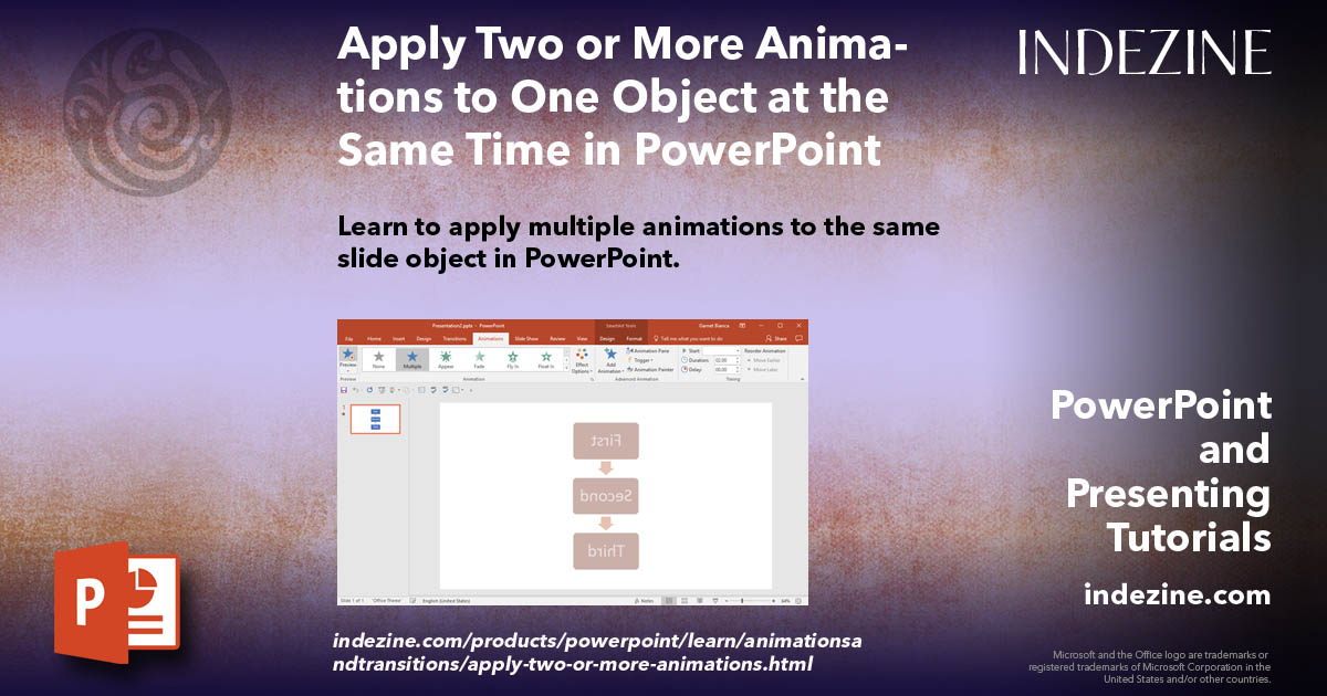 Apply Two or More Animations to One Object at the Same Time
