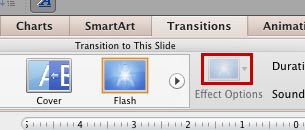 Effect Options button grayed out