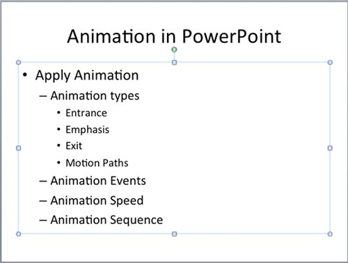 Animate Text in PowerPoint 2011 for Mac