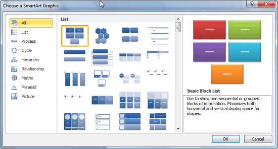 microsoft office smartart templates - add smartart graphics to powerpoint 2010