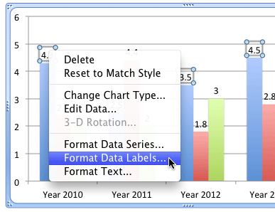 Select the Format Data Labels option