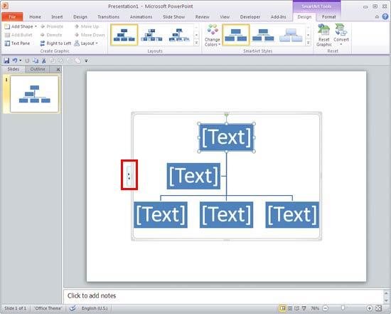 Insert An Organization Chart In Powerpoint 2010 Powerpoint Tutorials