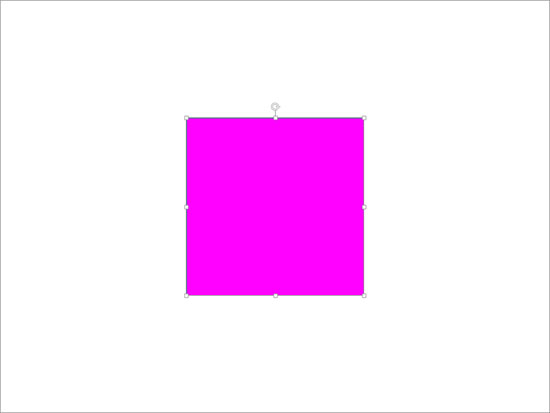 Rectangle's color changed to Magenta