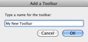 Add a Toolbar dialog box