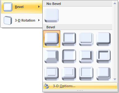 Bevel 3-D Options