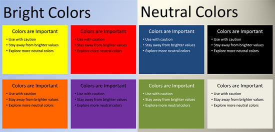 What Are Neutral Colors solid fills for slide backgrounds in powerpoint 2013